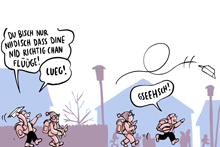Comics, Cartoons & Karikaturen im Bistro präsentiert: Samuel Schuhmacher