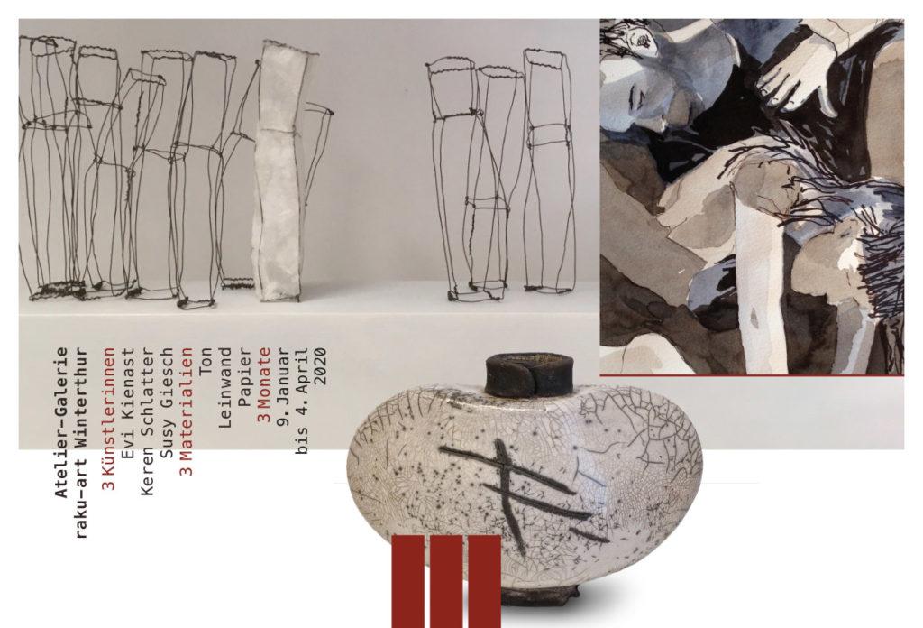Ausstellung von Keren Schlatter, Susi Giesch und Evi Kienast